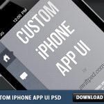 Custom iPhone App UI PSD
