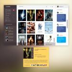 Dark Movie App UI Template PSD