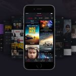 Dark iOS Movie App UI Kit Free PSD