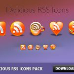 Free Delicious RSS Icons Pack PSD file