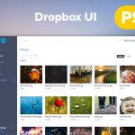 Dropbox Dashboard Redesign UI PSD