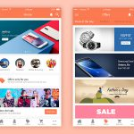 Ecommerce App UI Designs Free PSD