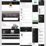 Entertainment UI Element Kit Free PSD