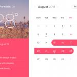Event Calendar Widget UI Design Free PSD