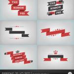 Flat Ribbon Banner Free PSD File