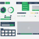 Flat UI Kit Design Free PSD