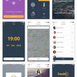 Flat iOS App UI Kit Free PSD