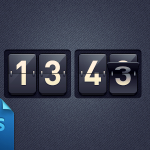 Flip Style Clock Countdown UI Free PSD