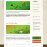Floral PSD Website Template