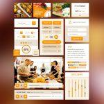 Food UI Kit PSD Freebie Pack