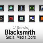 Free Blacksmith Social Media Icons PSD