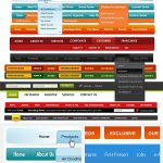 14 Free Custom Web Navigation Menu PSD Template