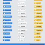 Free Web 2.0 Buttons PSD