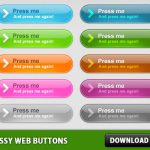 Glossy Web Buttons PSD