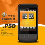 HTC Touch 2 Smartphone PSD
