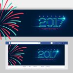 Happy New Year Facebook Cover Free PSD