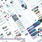 Huge UI Kit and Free PSD Templates