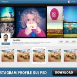 Instagram Profile GUI PSD