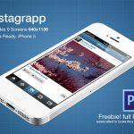 Instagrapp App Screens Freebie PSD File