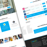Job Search Listing Website Template PSD
