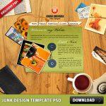 Junk Design Template PSD