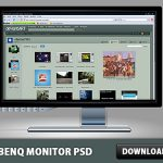LCD Benq monitor Free PSD File
