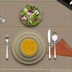 Restaurant Lunch Table PSD