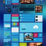 Metro Style Flat UI Kit PSD file