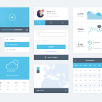 Minimal and flat UI Kit Free PSD