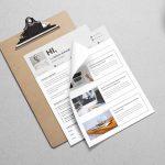 Minimalistic And Elegant Resume Template PSD