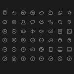 Minimalistic Icons Set PSD
