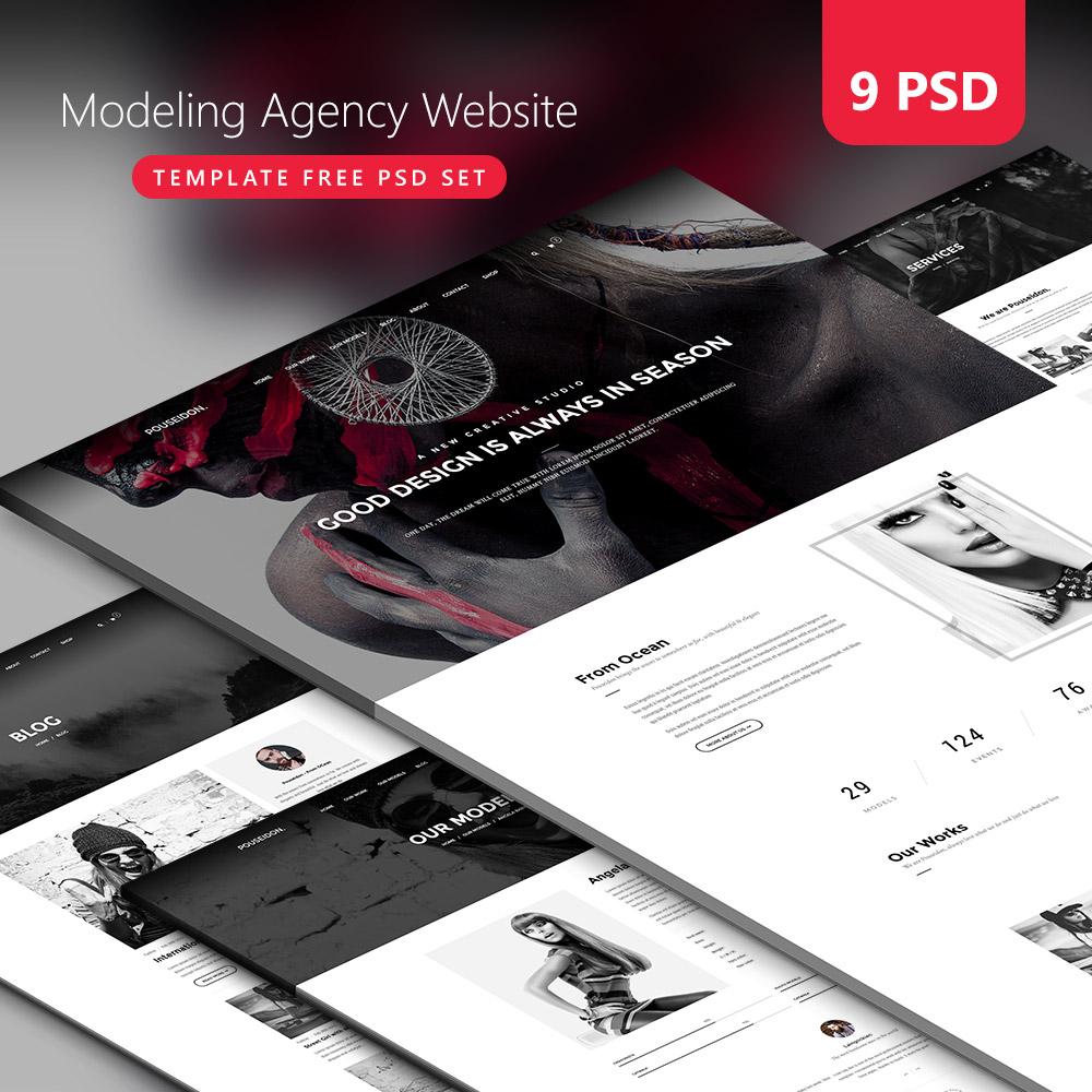 Modeling Agency Website Template Free PSD Set