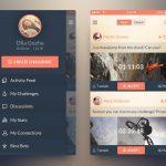 Modern design iOS7 Challenge App PSD