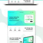 Money Transfer Website Template Free PSD