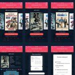 Movie Ticket Booking App Free PSD