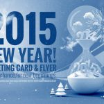 New Year 2015 Greeting Template PSD