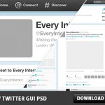 New twitter GUI Free PSD File