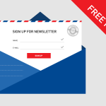 Newsletter Sign-Up Template PSD Design