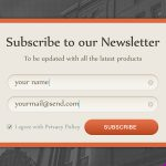Newsletter Subscription Form Design Free PSD