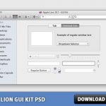 OSX Lion GUI Kit Free PSD