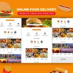 Online Food Delivery Website Template Free PSD