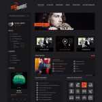 Online Music Application Website Template PSD