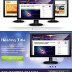 Monitor Graphic Free PSD Template