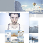 Photographer Website Free Template PSD