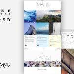 Premium Tumblr Theme Free PSD
