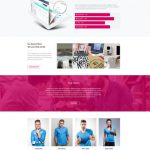 Product and Services Website Landing page Template Free PSD