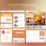 Real Estate Booking Free Web UI Kit PSD
