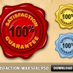 Satisfaction Guarantee Wax Seal PSD