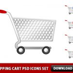 Shopping Cart Free PSD Icons Set