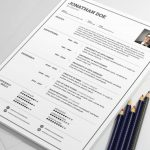Simple Clean Resume Template PSD